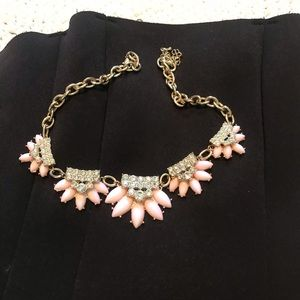 Pink Floral Jeweled Necklace